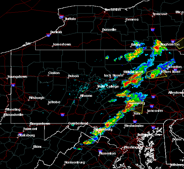 Radar Image for Severe Thunderstorms near Hershey, PA at 6/28/2016 3:50 PM EDT