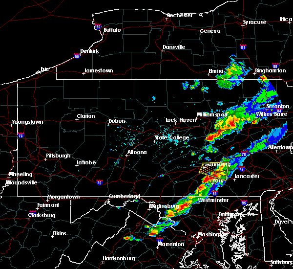 Radar Image for Severe Thunderstorms near Hershey, PA at 6/28/2016 4:36 PM EDT