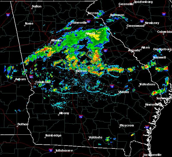 Radar Image for Severe Thunderstorms near Sandersville, GA at 6/28/2016 4:49 PM EDT