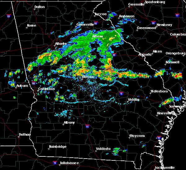 Radar Image for Severe Thunderstorms near Sandersville, GA at 6/28/2016 5:10 PM EDT