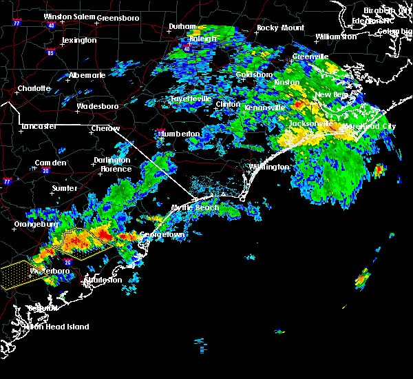 Radar Image for Severe Thunderstorms near Andrews, SC at 6/28/2016 5:26 PM EDT