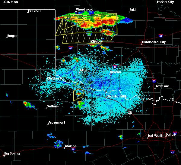 Radar Image for Severe Thunderstorms near Vernon, TX at 6/28/2016 6:34 PM CDT