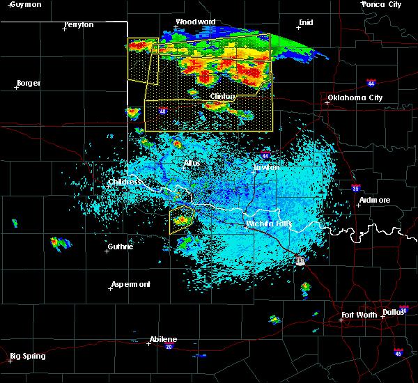 Radar Image for Severe Thunderstorms near Vernon, TX at 6/28/2016 6:53 PM CDT