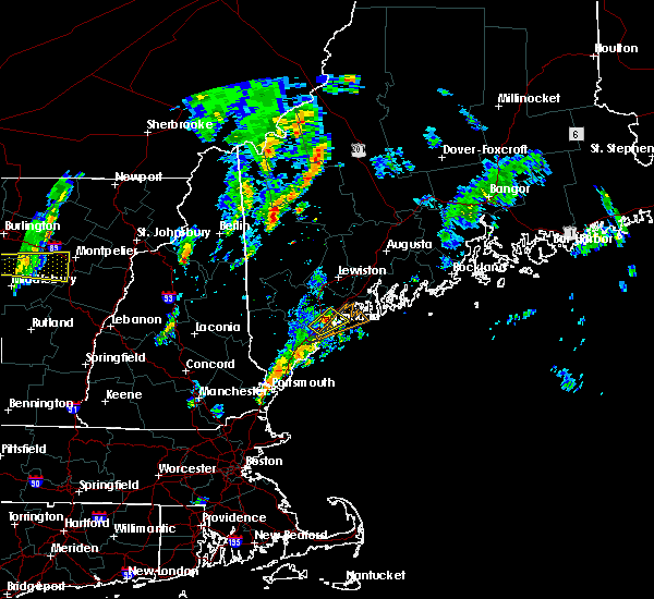 Radar Image for Severe Thunderstorms near Falmouth Foreside, ME at 6/29/2016 2:41 PM EDT