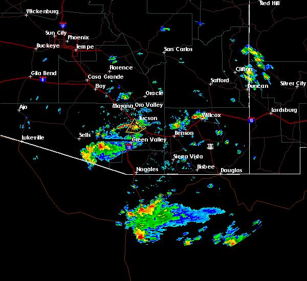 Radar Image for Severe Thunderstorms near Tucson, AZ at 6/29/2016 2:53 PM MST