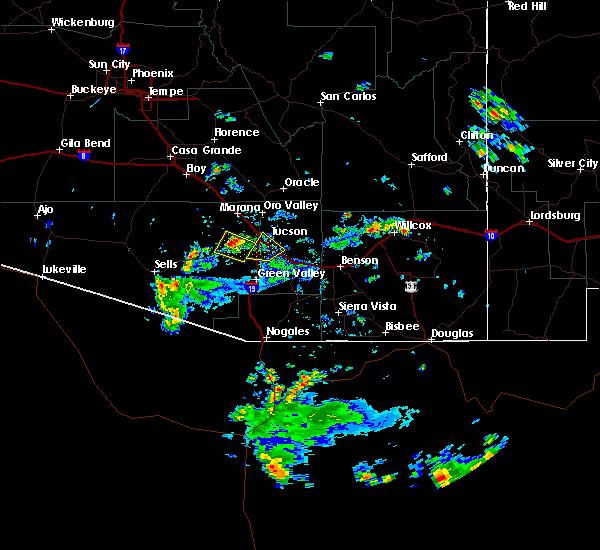 Radar Image for Severe Thunderstorms near Tucson, AZ at 6/29/2016 3:17 PM MST