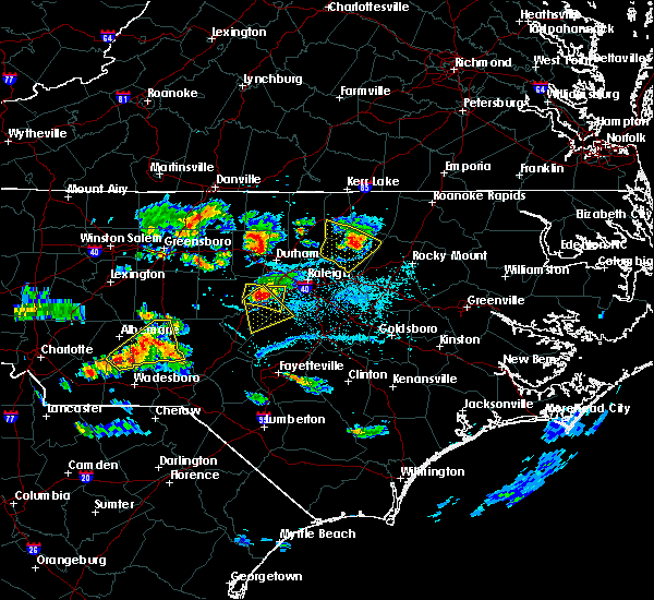 Radar Image for Severe Thunderstorms near Moncure, NC at 6/29/2016 7:04 PM EDT