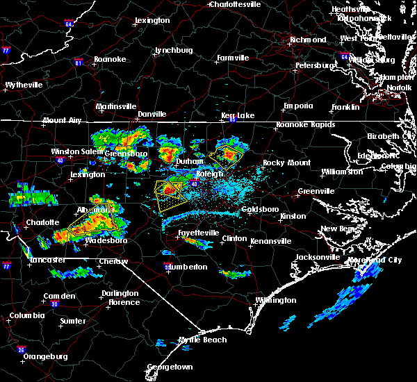 Radar Image for Severe Thunderstorms near Moncure, NC at 6/29/2016 7:14 PM EDT