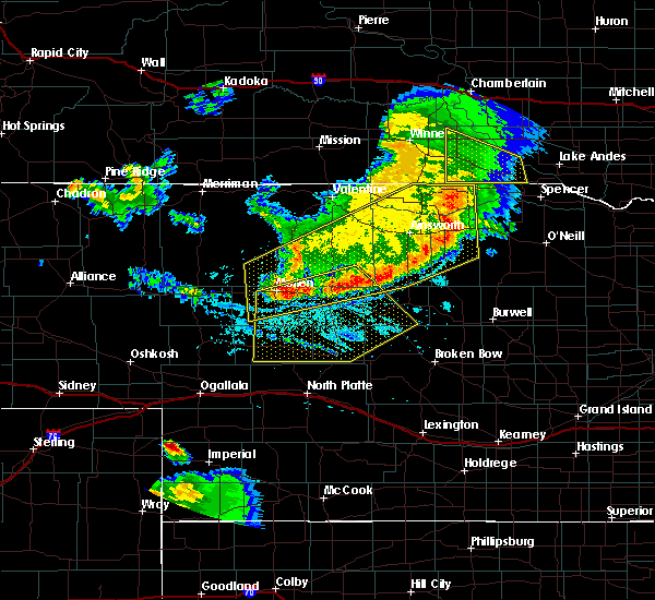 Radar Image for Severe Thunderstorms near Atkinson, NE at 6/29/2016 10:09 PM CDT