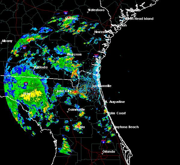 Radar Image for Severe Thunderstorms near Jacksonville, FL at 6/30/2016 1:54 PM EDT