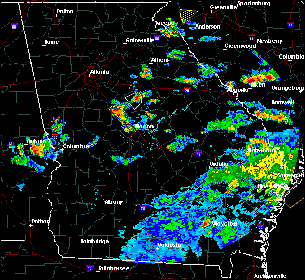 Radar Image for Severe Thunderstorms near Shady Dale, GA at 6/30/2016 5:22 PM EDT