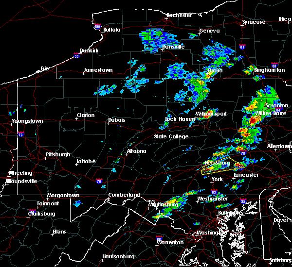 Radar Image for Severe Thunderstorms near Hershey, PA at 7/1/2016 1:36 PM EDT