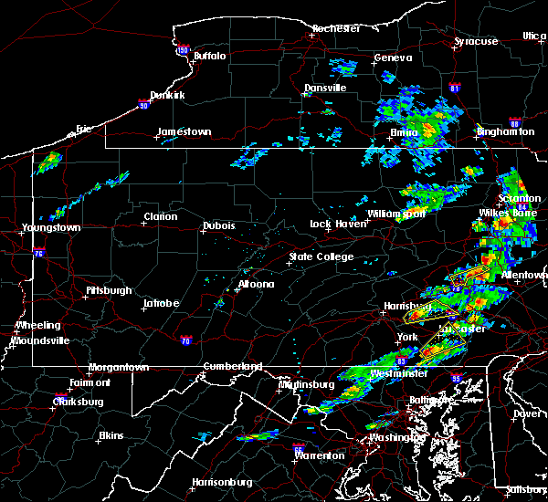 Radar Image for Severe Thunderstorms near Hershey, PA at 7/1/2016 2:15 PM EDT