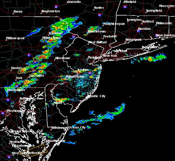 Radar Image for Severe Thunderstorms near Roosevelt, NJ at 7/1/2016 2:24 PM EDT