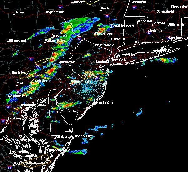 Radar Image for Severe Thunderstorms near Roosevelt, NJ at 7/1/2016 2:45 PM EDT