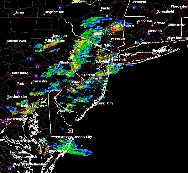 Radar Image for Severe Thunderstorms near Pemberton, NJ at 7/1/2016 3:58 PM EDT