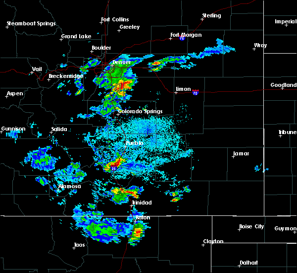 Radar Image for Severe Thunderstorms near Colorado City, CO at 7/1/2016 2:44 PM MDT