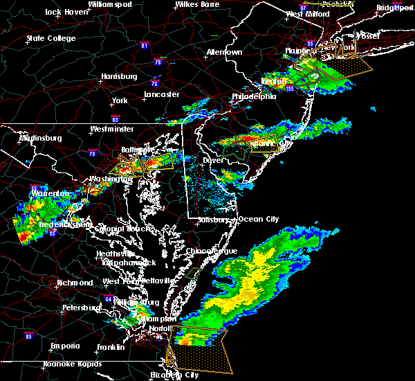 Radar Image for Severe Thunderstorms near Chestertown, MD at 7/1/2016 5:51 PM EDT
