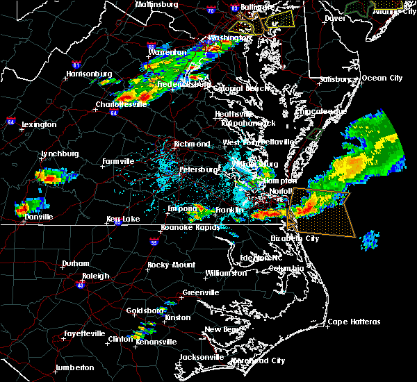 Radar Image for Severe Thunderstorms near Chesapeake, VA at 7/1/2016 6:00 PM EDT