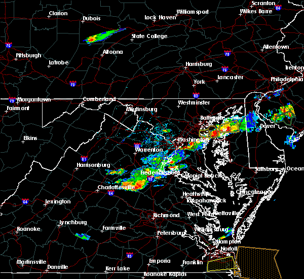 Radar Image for Severe Thunderstorms near Woodmore, MD at 7/1/2016 6:25 PM EDT