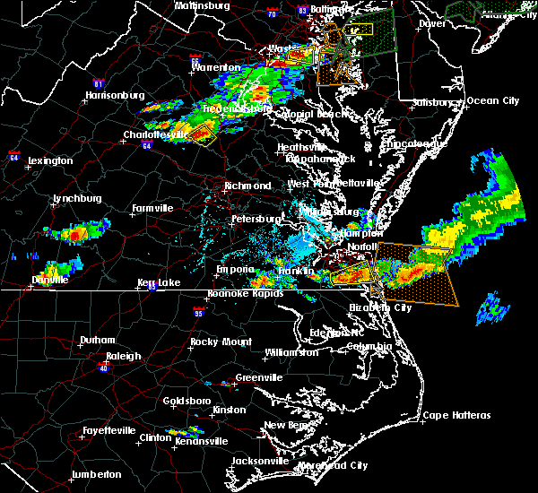 Radar Image for Severe Thunderstorms near Chesapeake, VA at 7/1/2016 6:31 PM EDT