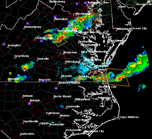 Radar Image for Severe Thunderstorms near Chesapeake, VA at 7/1/2016 6:46 PM EDT