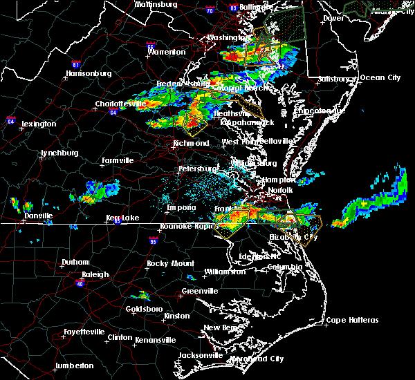 Radar Image for Severe Thunderstorms near Central Garage, VA at 7/1/2016 7:36 PM EDT
