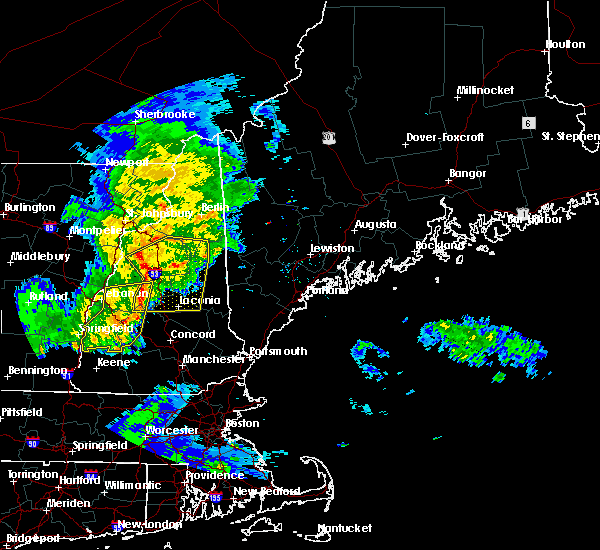 Radar Image for Severe Thunderstorms near Bartlett, NH at 7/1/2016 8:12 PM EDT