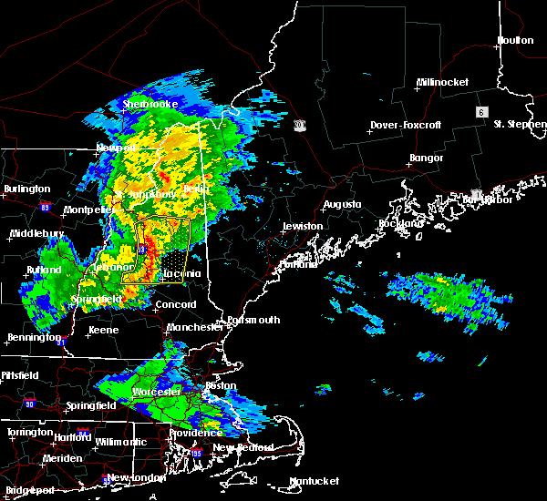Radar Image for Severe Thunderstorms near Bartlett, NH at 7/1/2016 8:37 PM EDT
