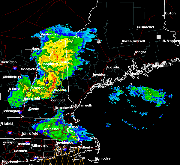 Radar Image for Severe Thunderstorms near Bartlett, NH at 7/1/2016 8:53 PM EDT