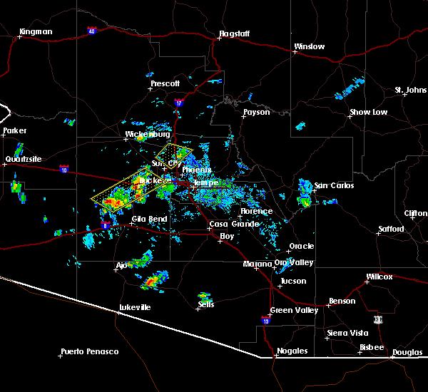 Radar Image for Severe Thunderstorms near Goodyear, AZ at 7/1/2016 6:04 PM MST