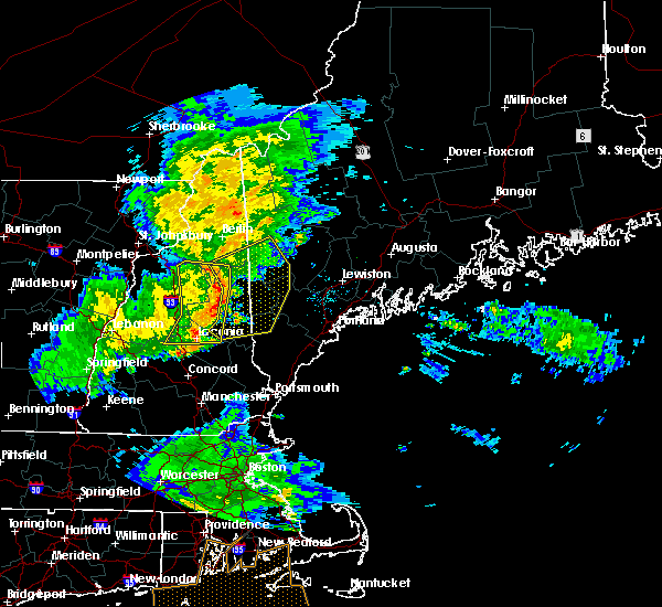 Radar Image for Severe Thunderstorms near Bridgton, ME at 7/1/2016 9:10 PM EDT