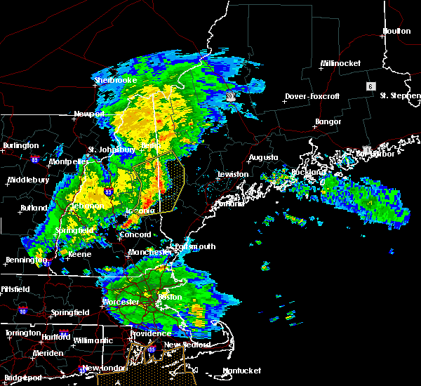 Radar Image for Severe Thunderstorms near Bridgton, ME at 7/1/2016 9:36 PM EDT