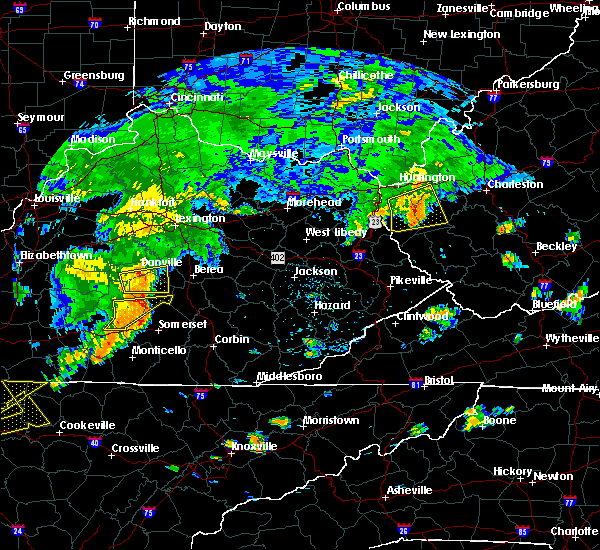 Radar Image for Severe Thunderstorms near Eubank, KY at 7/4/2016 4:20 PM EDT