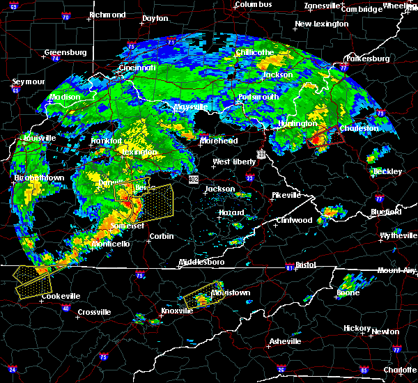 Radar Image for Severe Thunderstorms near McKee, KY at 7/4/2016 4:51 PM EDT