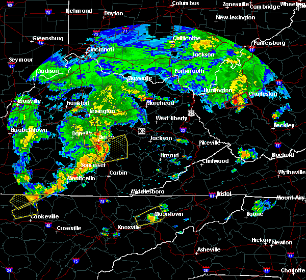 Radar Image for Severe Thunderstorms near Richmond, KY at 7/4/2016 4:58 PM EDT