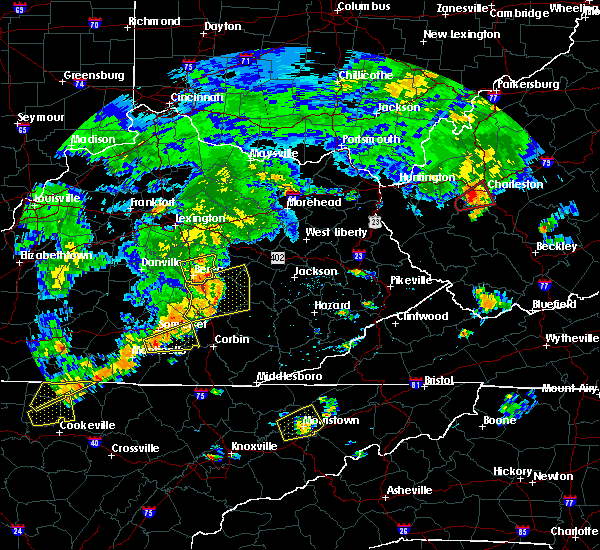Radar Image for Severe Thunderstorms near Burnside, KY at 7/4/2016 5:01 PM EDT