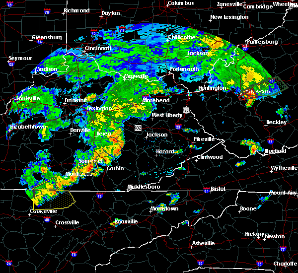 Radar Image for Severe Thunderstorms near Booneville, KY at 7/4/2016 5:19 PM EDT