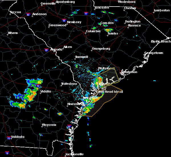 Radar Image for Severe Thunderstorms near Edisto Beach, SC at 7/4/2016 5:57 PM EDT
