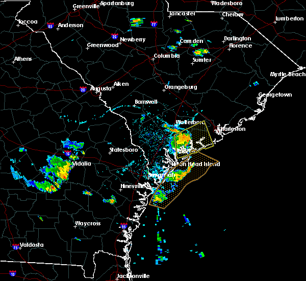 Radar Image for Severe Thunderstorms near Edisto Beach, SC at 7/4/2016 6:15 PM EDT