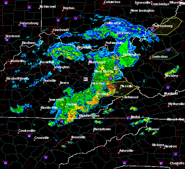 Radar Image for Severe Thunderstorms near Williamson, WV at 7/4/2016 6:45 PM EDT