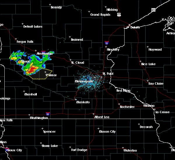 Radar Image for Severe Thunderstorms near De Graff, MN at 7/5/2016 12:35 AM CDT
