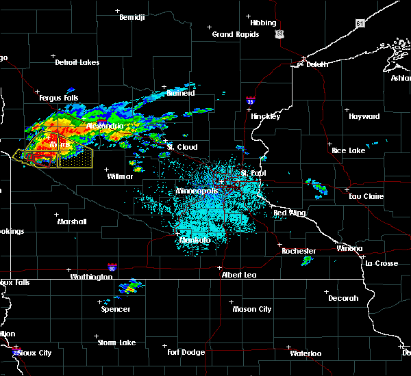 Radar Image for Severe Thunderstorms near Clontarf, MN at 7/5/2016 2:45 PM CDT