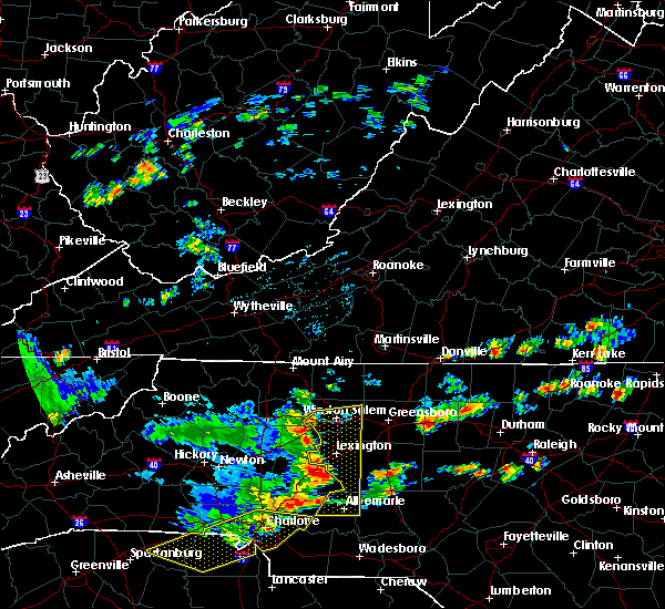 Radar Image for Severe Thunderstorms near Misenheimer, NC at 7/5/2016 4:31 PM EDT