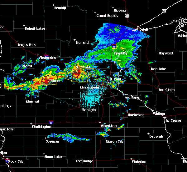 Radar Image for Severe Thunderstorms near Annandale, MN at 7/5/2016 4:57 PM CDT