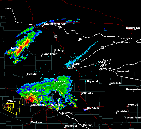 Radar Image for Severe Thunderstorms near Cass Lake, MN at 7/5/2016 5:04 PM CDT