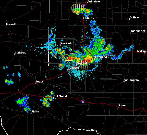Radar Image for Severe Thunderstorms near Stanton, TX at 7/5/2016 6:30 PM CDT