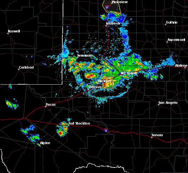 Radar Image for Severe Thunderstorms near Stanton, TX at 7/5/2016 6:58 PM CDT