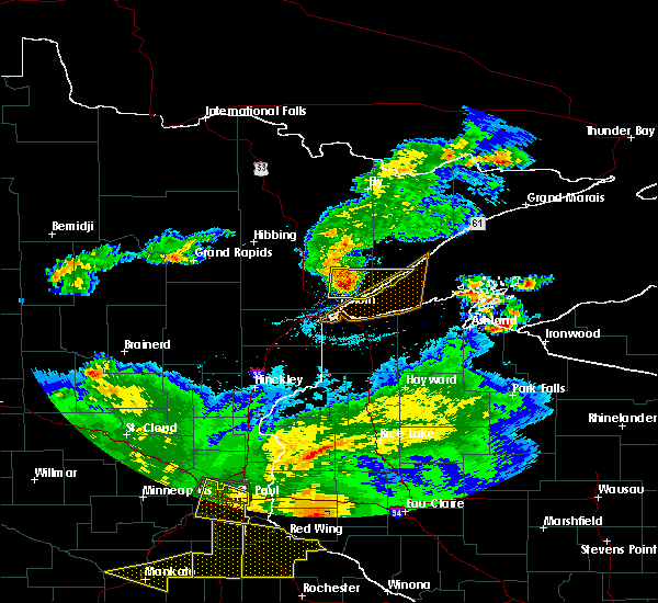 Radar Image for Severe Thunderstorms near Duluth, MN at 7/5/2016 7:48 PM CDT