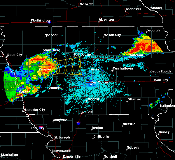 Radar Image for Severe Thunderstorms near Harcourt, IA at 7/5/2016 11:36 PM CDT